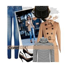 """""""Street Style:Camel Coat"""" by bamaannie ❤ liked on Polyvore featuring Tiffany & Co., Levi's, Chloé, Burberry, StreetStyle, BloggerStyle and camelcoat"""