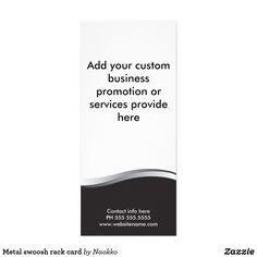 Shop Metal swoosh rack card created by Naokko. Lawyer Services, Create Your Own Card, Rack Card, Landscape Prints, Promote Your Business, Wedding Programs, Business Marketing, Thank You Cards, Holiday Cards