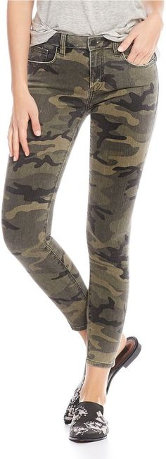 Miss Me Camo Ankle Skinny Jeans