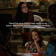 Modern Family - Alex Dunphy: There'll be tons of fun Friday nights in my future. Funny School Memes, Some Funny Jokes, Funny Relatable Memes, Funny Texts, Funny Quotes, Modern Family Alex, Modern Family Memes, Morden Family, All The Things Meme