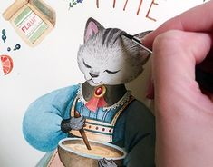 """Check out new work on my @Behance portfolio: """"Сooking time. Watercolor illustration."""" http://be.net/gallery/61636221/sooking-time-Watercolor-illustration"""