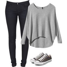 Casual Outfit my style Look Fashion, Teen Fashion, Runway Fashion, Autumn Fashion, Fashion Outfits, Womens Fashion, Converse Outfits, Converse Shoes, Converse Trainers