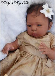 african american reborn babies - Google Search  ~ not a fan of opened eyes reborns but I Really like her face