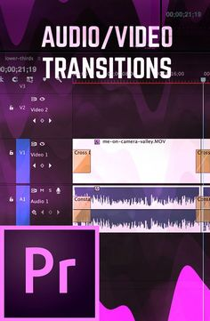 How To Use Audio & Video Transitions in Premiere Pro CC Adobe Premiere Pro, Adobe Audition Tutorial, After Effects, After Effect Tutorial, Photoshop, Videos, Le Web, Photography And Videography, Video Editing