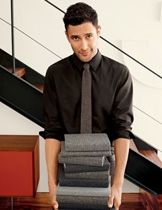Stretch Shirt | Tweed Tie | #BananaRepublic | #BRFall