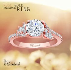 BARKEV'S ROSE GOLD ENGAGEMENT RING STYLE # 7908LP