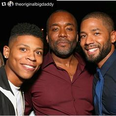 #Regram @theoriginalbigdaddy ・・・ My boys.... #gettingready #gettingexcited #empireseason2 @yazzthegreatest @jussiesmollett ❤️ #Empire