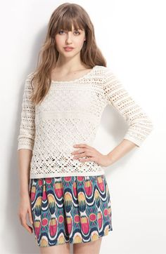 Free shipping and returns on Lucky Brand 'South Dakota' Crochet Sweater at Nordstrom.com. Open crochet stitches shape a versatile layering piece styled with a buttons at the back neck.