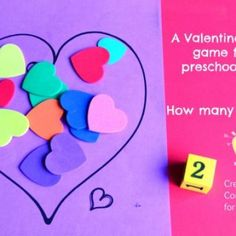Preschool Valentines Day Heart Game {Valentines Day Activity}