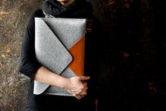Felt and Leather Laptop Cases To Make You Swoon - Flax & Twine