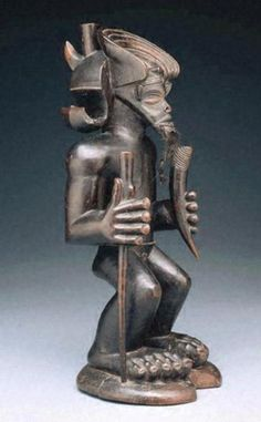 Chibinda Ilunga mid-19th century Africa, Northeastern Angola   Chokwe peoples   Wood, hair, and hide   16 x 6 x 6 in. (40.6 x 15.2 x 15.2 cm) Acquired in 1978 Kimbell Art Museum Fort Worth, TX