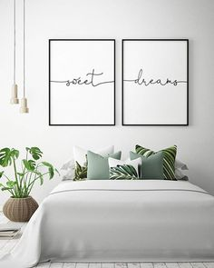 14b133eeefd6 Color Therapy Will Guarantee You the Best Sleep of Your Life! Bedroom Wall  Decor Above BedBedroom Wall DecorationsWhite ...