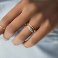 Diamond Snowdrift Ring – Melanie Casey Thin Gold Rings, Rose Gold Rings, Diamond Rings, Silver Rings, Beautiful Engagement Rings, Delicate Rings, Simple Rings, Ring Verlobung, Necklace Sizes