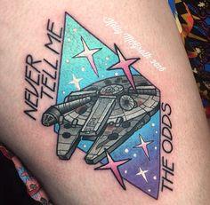 Kelly McGrath tattoo - Star Wars  Omg this is literally my tattoo. That's my leg. That's so weird.