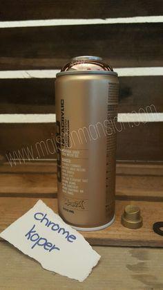 Montana GOLD spuitverf Chrome koper 400 ml -  Een topmerk met een topproduct in een diverse kleuren. Snel droog, snel overschilderbaar, maximale pigmentatie, weinig lopers en met alle spraycaps te combineren.