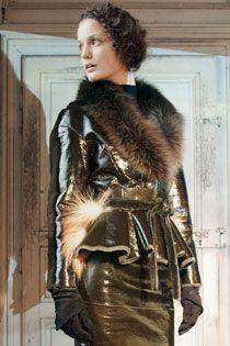 Andrew Heather fur raincoat