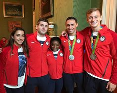 Steele johnson - with ali r, mike hixon, simone biles, and sam dorman.  Last week at the White House