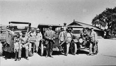 The Logans, Bullises, and Richardsons beginning a road trip to San Francisco to see the Pacific International Fair, 1915. Glendale Central Public Library. San Fernando Valley History Digital Library.