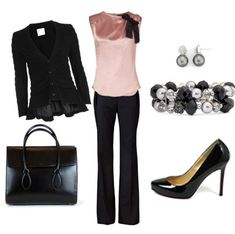 Really cute work outfit. Love the top. Perhaps a slightly different colour though. #professionalappearance
