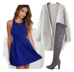 Homecoming outfit ideas, Winter day dress by jengesick on Polyvore featuring polyvore, fashion, style, Lulu*s and Boohoo