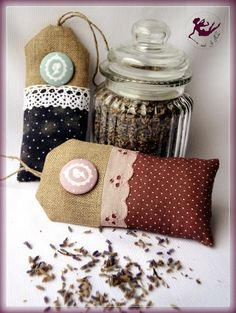 lavender sachets by Nina Small Sewing Projects, Sewing Crafts, Craft Projects, Projects To Try, Lavender Bags, Lavender Sachets, Crafts To Make, Diy Crafts, Sachet Bags