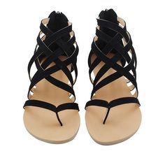 Fashion Gladiator Sandals For Women Summer Shoes Female Flat Sandals – #sandalssummer #sandalsoutfit #sandalsboho #sandals #slidesandals #slides Flat Gladiator Sandals, Shoes Flats Sandals, Flip Flop Sandals, Black Sandals, Strap Sandals, Flip Flops, Aldo Shoes, Leather Sandals, Sandals 2018