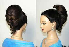 Hairstyles for long hair. Elegant braided updo. Прическа для длинных вол...