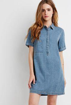 FOREVER 21 Denim Shirt Dress