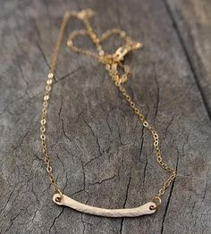 Hammered Bar Necklace by Silversheep Jewelry on Scoutmob Shoppe