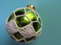 Simply Crochet and Other Crafts: Diamonds Are Forever Christmas Ornament Cover pattern