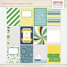 Shipshape Journal Cards