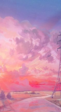 Ideas wall paper iphone art pink for 2019 Wallpaper Para Iphone 6, Wallpaper Pastel, Anime Scenery Wallpaper, Sunset Wallpaper, Painting Wallpaper, Landscape Wallpaper, Aesthetic Pastel Wallpaper, Kawaii Wallpaper, Aesthetic Wallpapers