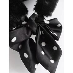 SheIn(sheinside) Polka Dot Self Tie Faux Fur Scarf (40 RON) ❤ liked on Polyvore featuring accessories, scarves, faux fur scarves, polka dot scarves, fake fur shawl, faux fur shawl and fake fur scarves
