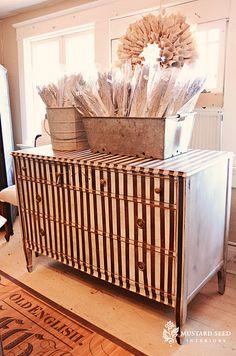 Marians beautiful striped dresser!