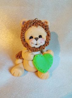 lion birthday cake topper decor polymer clay by clayqts on Etsy, $18.95