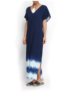 Vestido Longo Tie Dye Barrado Shibori, Kaftans, Tie Dyed, Tie Dye Skirt, Bathing Suits, Indigo, Stylists, Short Sleeve Dresses, Textiles
