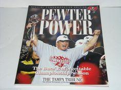 Tampa Bay Buccaneers Book Pewter Power Tampa Tribune Super Bowl 2003 Vintage #TampaBayBuccaneers #TBT #scrunchiesbysherry