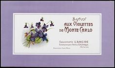 Vintage French Perfume Label