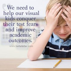 How to help your visual learners conquer test anxiety. Helpful studying tips for elementary students.