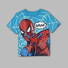 Marvel- -Infant & Toddler Spiderman Gotcha T-Shirt Spiderman, Batman, Little Babies, Little Boys, Marvel Fashion, Toddler Themes, Baby Boy T Shirt, Miffy, Cartoon T Shirts