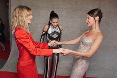 Camila Morrone, Sara Sampaio and Bella Hadid at the Fashion for Relief event in Cannes