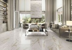 Indian marble such as Makrana white marble is hailed as superior – and why not, since it gave us wonders like Taj Mahal. However, they are now pretty common in Indian households. They don't catch the eye and often seem inconspicuous against the array of extraordinary imported marble. Moreover, sadly their authenticity is often questionable. Furthermore, the range of shades is limited as opposed to the world of shades of imported white marble. #design #importedmarble #designer Beautiful Interior Design, Beautiful Interiors, Modern Interior Design, Classic Living Room, Bathroom Design Luxury, Marble Floor, Marble Slabs, Living Room Flooring, Living Room Designs