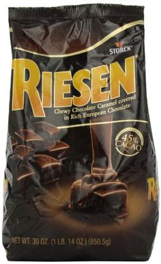 Riesen Chewy Chocolate Caramels, 30-Ounce Bags (Pack of 3) Riesen http://www.amazon.com/dp/B0018AXELI/ref=cm_sw_r_pi_dp_lqPTub15A30MP