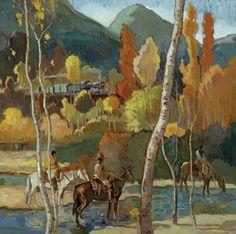 "Francis Livingston, ""River Below"", oil on panel, 30″ x 30″"