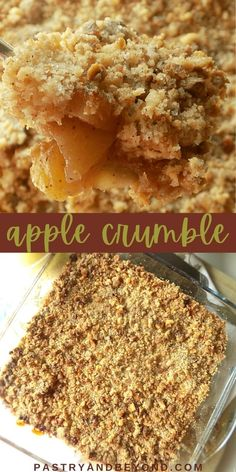 Easy Apple Crumble Recipe-This apple crumble is so easy to make and delicious with tangy apples and crispy crumbles. You'll love this classic and simple Fall dessert recipe! #applecrumble #apples #crisp #easyrecipe #fall Apple Crumble Receta, Apple Crumble Recipe Easy, Pear And Apple Crumble, Banana Crumble, Healthy Apple Crumble, Apple Crumble Cake, Apple Recipes Easy, Pear Recipes, Sweet Recipes