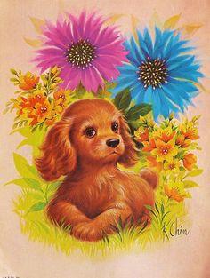 1970 Puppy Print