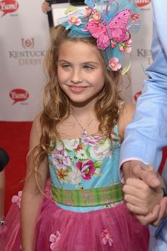 This is Anna Nicole Smith's daughter, now. Dannielyn, she's 7 or 8 I think.