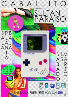 Poster, Flyer, Cartel, Design, Graphic Design Art by Bigotesucio Cumbia Gameboy 8bits chiptune