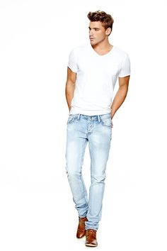 Lets Keep it Simple White tee, urban outfitters Faded white jeans, Lucky, in Denim Jeans Quatro Brown dress shoes, Hush Puppies #color #Men #Boy #Man #Apparel #Look #Masculina #Wear #Guy #Fashion #Male #Homem #Modern #Fashion #T-Shirt #Boots #Shoes #Military #Pants #Jeans #watch #shirt #Bracelet #Cardigan #Sweat #Clock #Glasses #Style #Accessories #beard #hairstyle #2013 #casual #street #haircuts #hairstyle #hair #sweater #mensfashion
