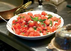 watermelon salad Feta  Recipes
